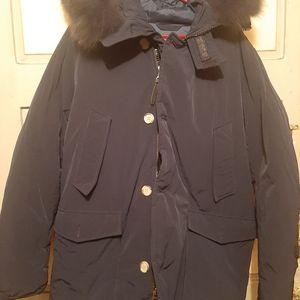 Woolrich Down Parka Fox Fur Medium Mint Condition